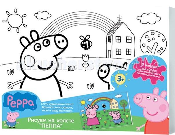 Роспись по холсту 24675, Peppa Pig