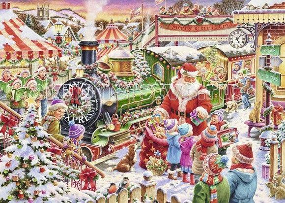Пазл рождественский экспресс 1000 элементов, Ravensburger