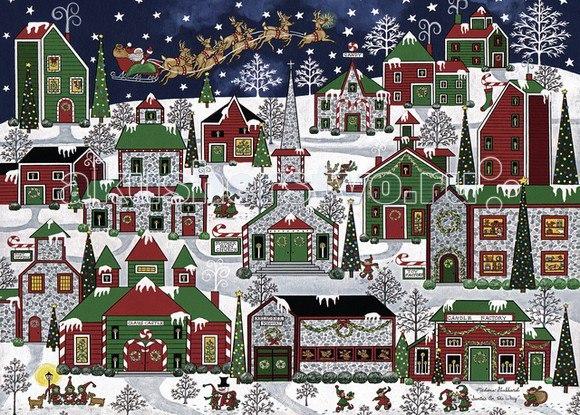 Пазл рождественский город 1000 элементов, Ravensburger