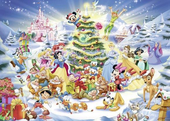 Пазл рождество в стране дисней 1000 элементов, Ravensburger