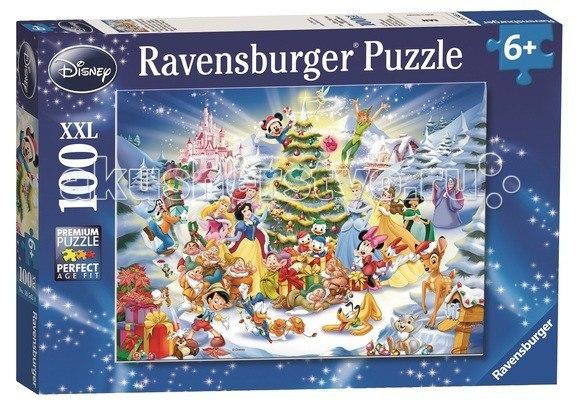 Пазл рождество с героями диснея xxl 100 элементов, Ravensburger