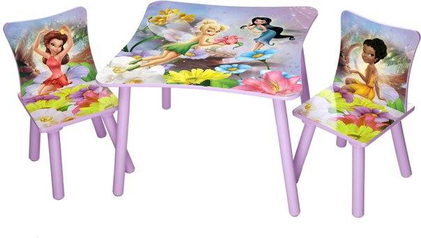 Игровой стол со стульями феи, Disney