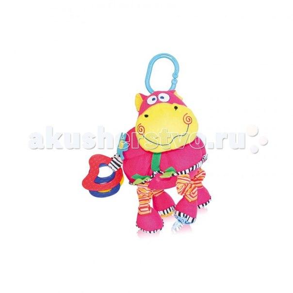 Подвесная игрушка Бегемот вибро смех, Bertoni (Lorelli)