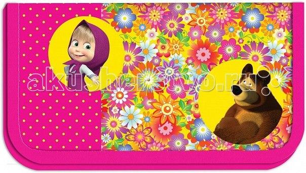 Пенал цветочная поляна 22111, Маша и Медведь
