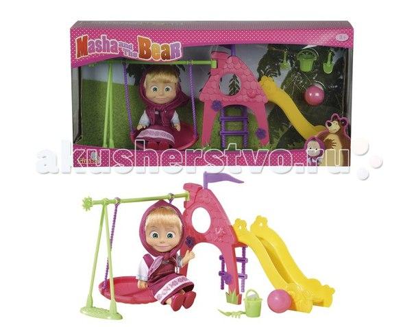 Кукла Маша на детской площадке 12 см, Simba