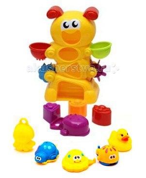 Игрушка для ванной веселая гусеница c друзьями, Brasco