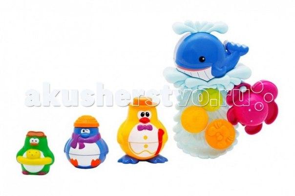 Игрушка для ванной кит и пингвины, веселые друзья, Brasco