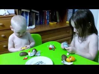 Приколы с детьми 2015 funny kids 2015 смешное видео про детей и Киндер Сюрприз Kinder Surprise