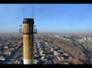 Обзор Карасука с высоты 55 метров. Установка оборудования Wi-FI (NanoBridge NanoStation)