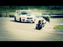 Subaru WRX STI feat Yamaha MT-09 Street Rally: la sfida in pista - Moto.it