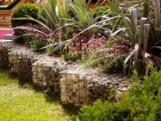 Габионы в саду. Готовые идеи