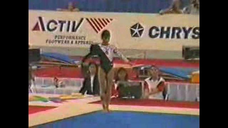 Oksana Chusovitina 1991 World Championships Floor Ex EF
