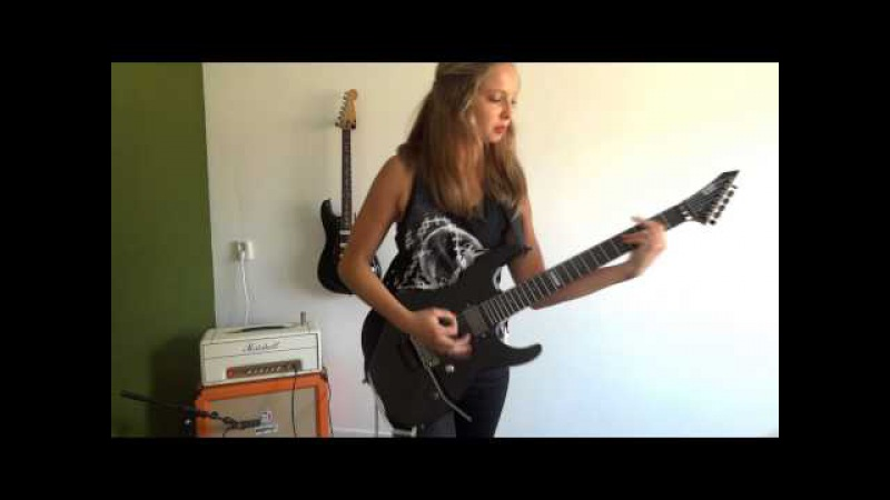 Justice For All Metallica guitar cover by Cissie with Hammett solo