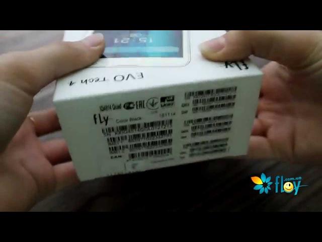Распаковка смартфона Fly IQ4514 EVO Tech 4