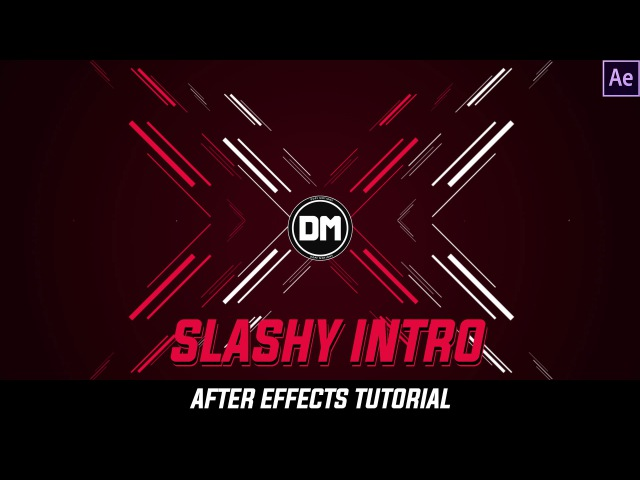 After Effects Tutorial Amazing Slashy Intro with Shapelayers