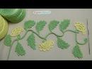 Урок вязания ВЕТОЧКА с бутонами ирландское кружево Irish crochet lace