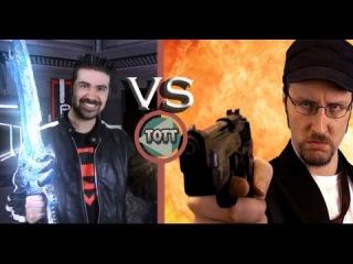 Angry Joe vs Nostalgia Critic: Grudge Match! rus dvo