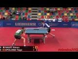 Tiago Apolonia vs Simon Gauzy (European Championships 2015)