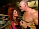 Lita and Kane backstage.