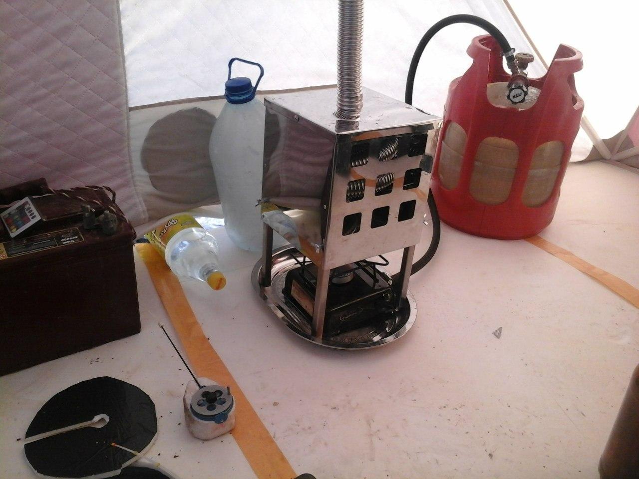 Теплообменник в зимнюю палатку своими руками