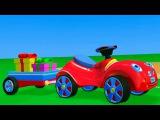 3D мультфильм для малышей: Мультик про Красную Машинку, Вертолетик и Парк Аттракционов