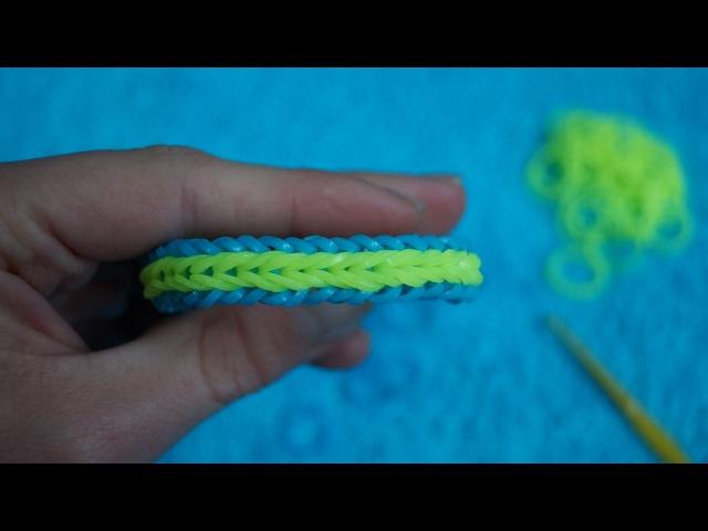 Как сделать браслет из резинок рыбья кость на
