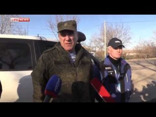 Обстрел кортежа ОБСЕ и генерала Ленцова под Широкино