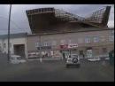 Крышу здания бывшего таксомоторного парка в Чите унесло из-за ветра