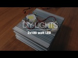 Trailer DIY Lights | 2x100 watt LED with controller and remote