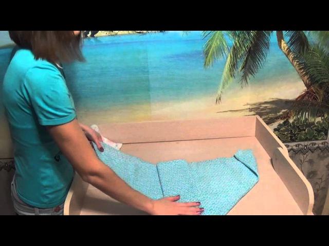 Как свернуть самодельный подгузник из пеленки