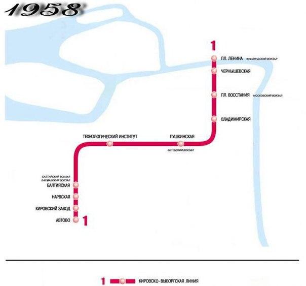 Схема развития СПб метро