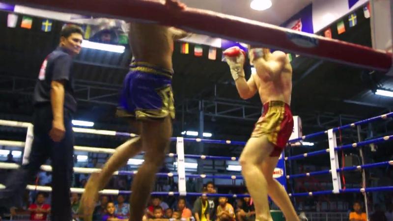 Дишо Георгий профессиональный бой в Тайланде на Thepprasit Boxing Stadium