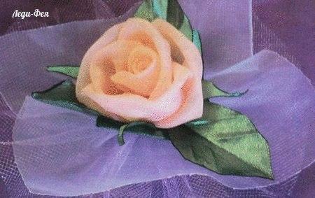 Роза из тюли пошагово