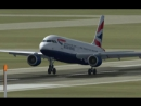 320. Landing aircraft Airbus A 320