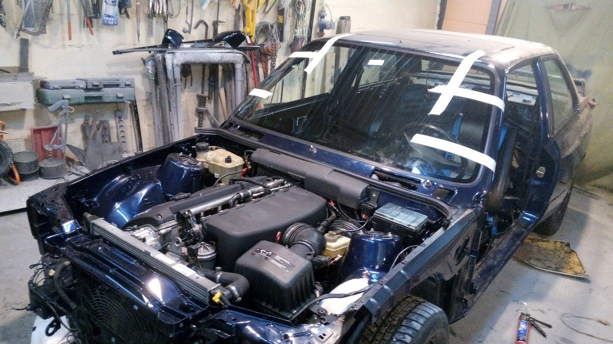 BMW E30 M3 установка S54