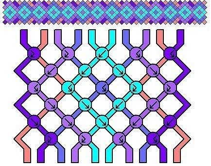 Фенечки:3 Плетение, схемы,