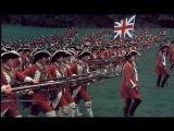 British grenadiers march British line infantry attack