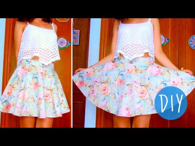 DIY skater/circle skirt in 3 steps! (No zipper/no elastic band)