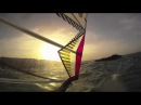 Windsurfing fast at sunset Antigua - gopro head cam