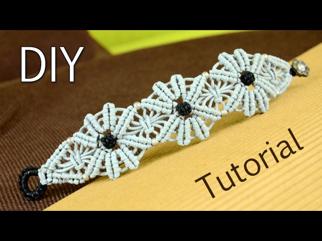 Macramé Flower Bracelet Tutorial ✿✿✿