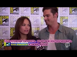 G4 - beauty and the beast at comic-con 2012 kristen kreuk jay ryan