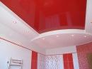 Натяжной потолок в ванной комнате — идеи дизайна