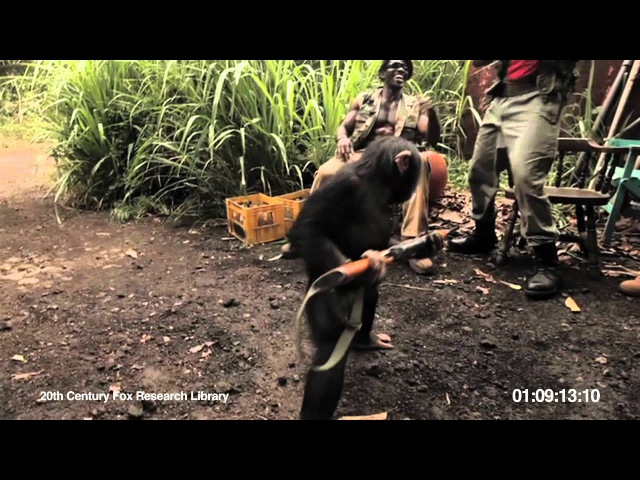 Ape With AK-47 - Rise of the Planet of the Apes Viral Video