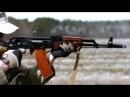 Стрельба из АК 74 вид изнутри, замедленная съемка