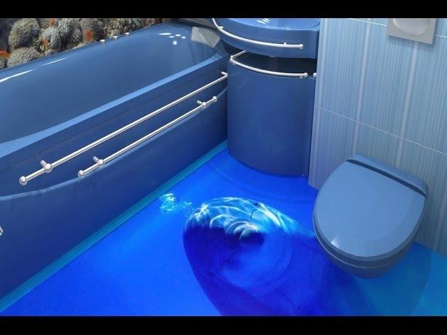 Какой пол сделать в ванной 3d полы технология