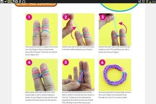 фото уроки браслеты из резинок