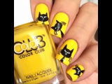"Nails Videos on Instagram: ""Little black cats by @sensationails4u ? Song: A Meow Mix by Ashworth"""