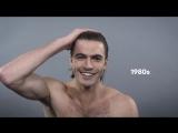 100 лет истории мужских причёсок - за полторы минуты