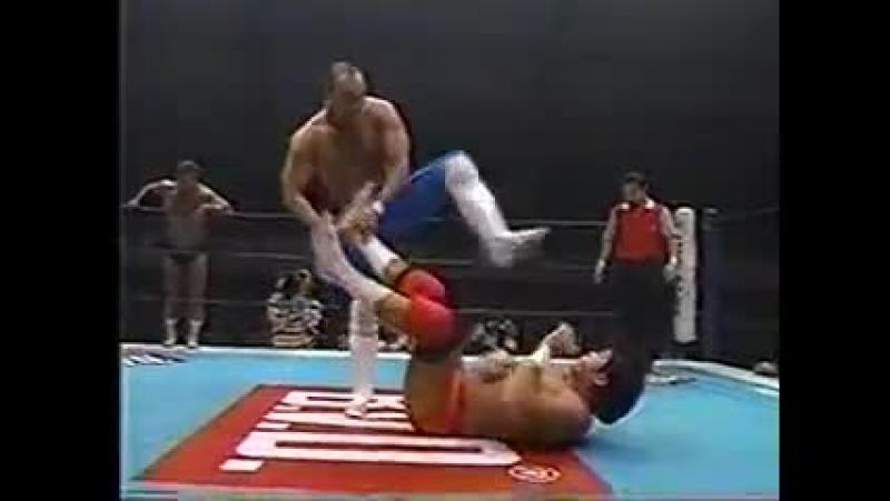NJPW 04.02.1996 - Kazuo Yamazaki/Osamu Kido vs. Keiji Mutoh/Kensuke Sasaki