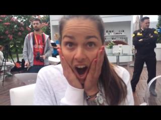 Ana Ivanovic's funny face))